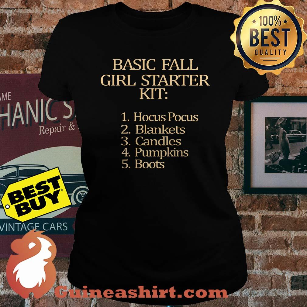 Basic fall Girl starter Kit Hocus Pocus Blankets Candles Pumpkins Boots ladies tee