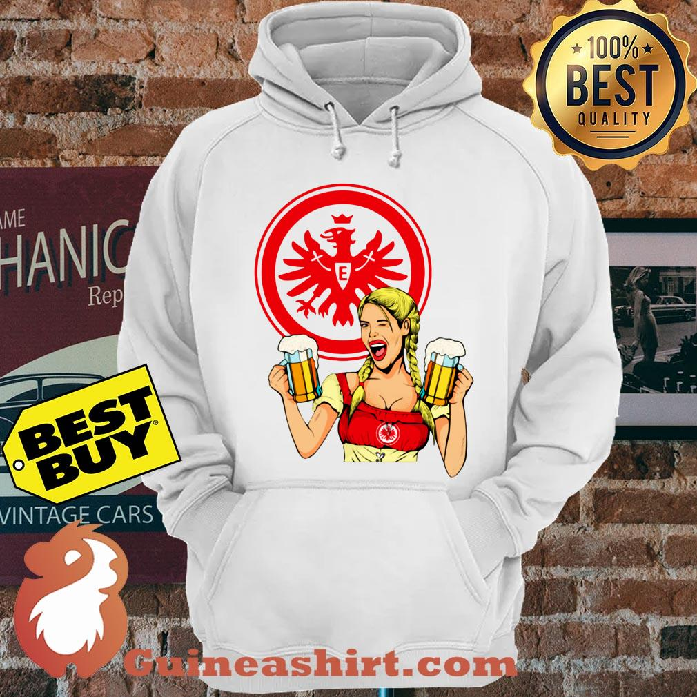 Eintracht Frankfurt logo Klein Beer hoodie