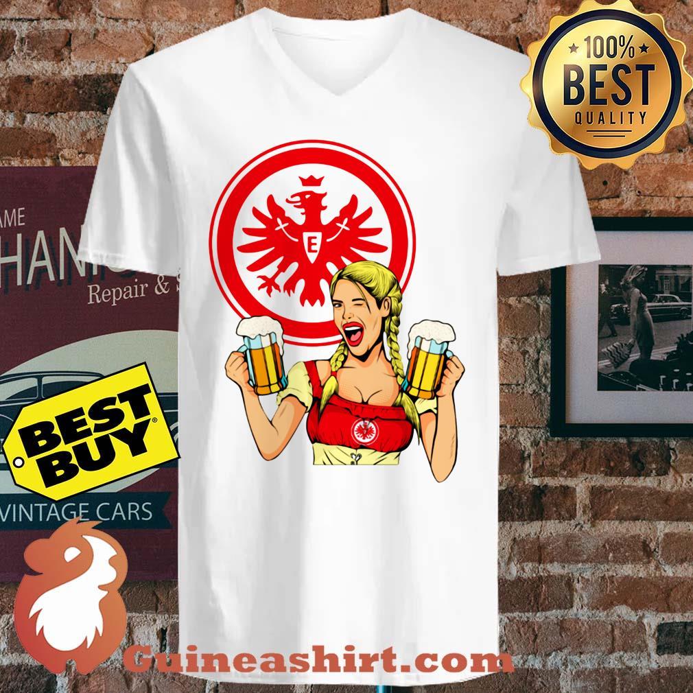 Eintracht Frankfurt logo Klein Beer v neck