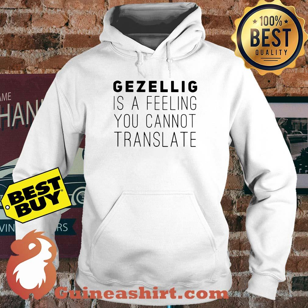 Gezellig is a feeling you cannot translate hoodie