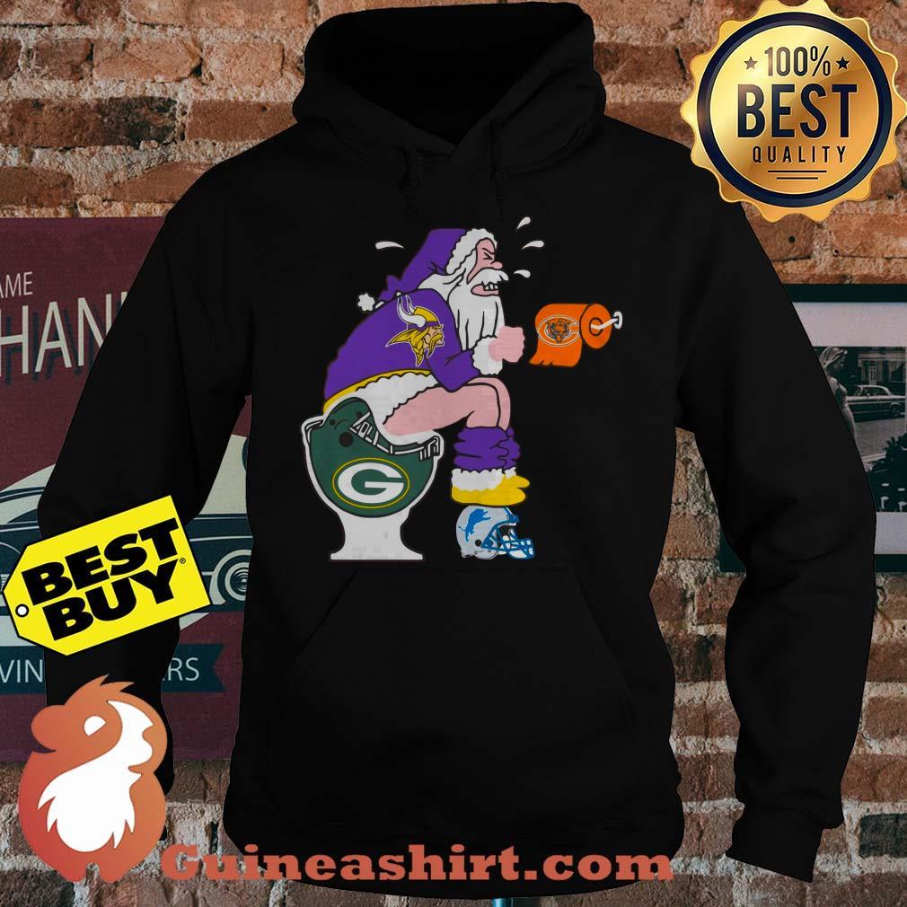 Minnesota Vikings,Chicago Bears, Green Bay Packers, Detroit Lions Santa Claus Toilet hoodie
