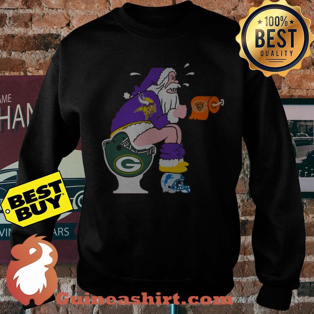 Minnesota Vikings,Chicago Bears, Green Bay Packers, Detroit Lions Santa Claus Toilet sweatshirt