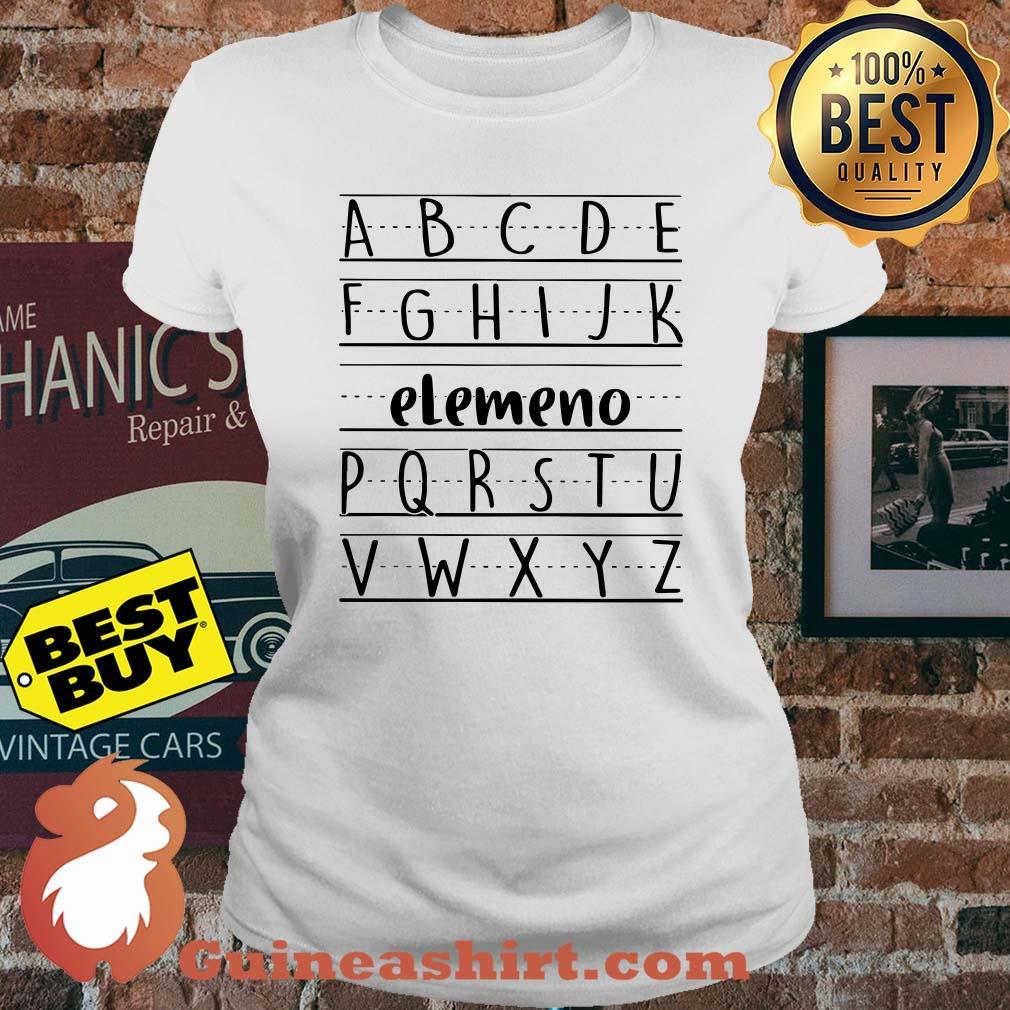 Official Alphabet ABC Elemeno ladies tee
