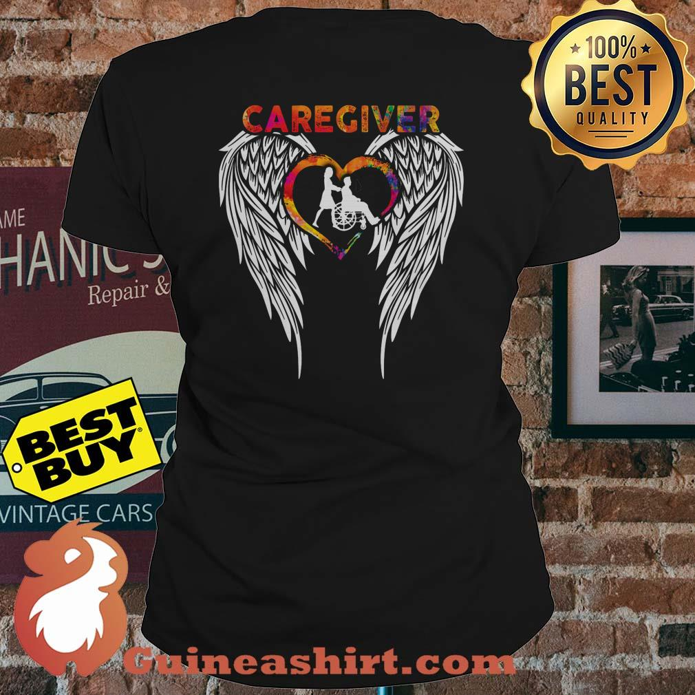 Official Caregiver Angels Colorful ladies tee