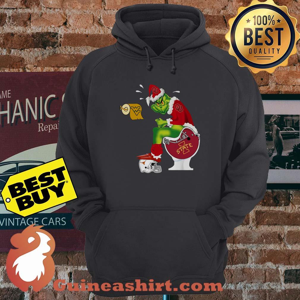 Oklahoma Sooners Grinch Santa Toilet Christmas hoodie