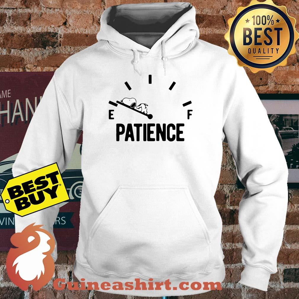Patience Running Low Fuel Gauge Snoopy hoodie