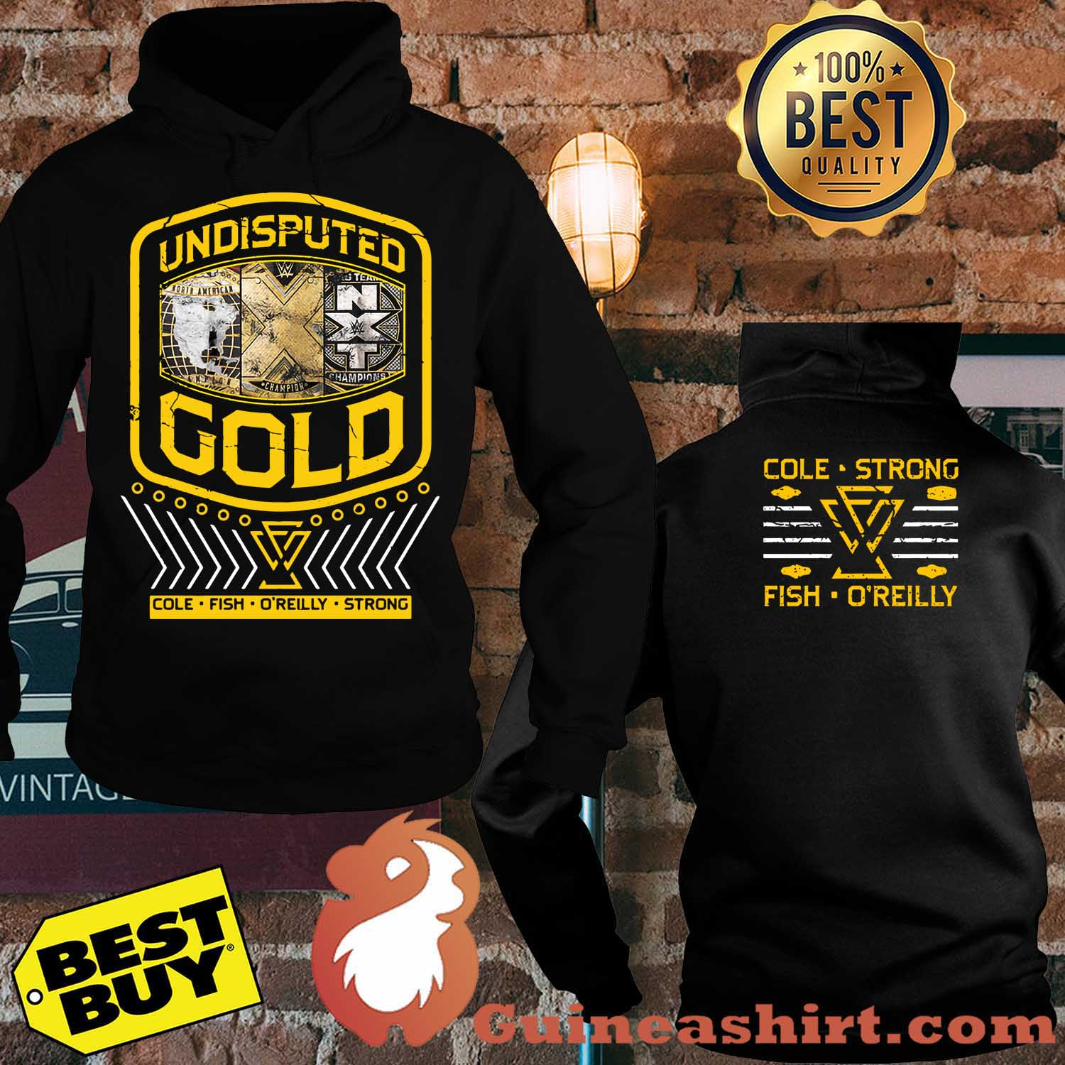 "Undisputed Era ""Undisputed Gold"" Cole strong fish o'reilly Youth Authentic hoodie"