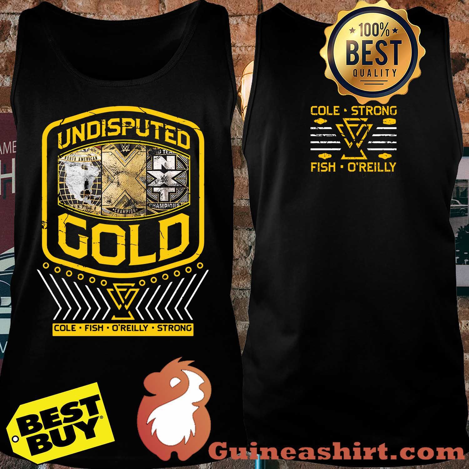 "Undisputed Era ""Undisputed Gold"" Cole strong fish o'reilly Youth Authentic tank top"