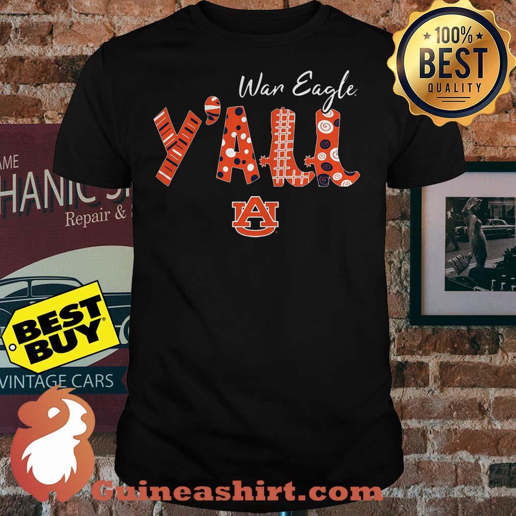 Best War Eagle Y'all Auburn University logo Shirt