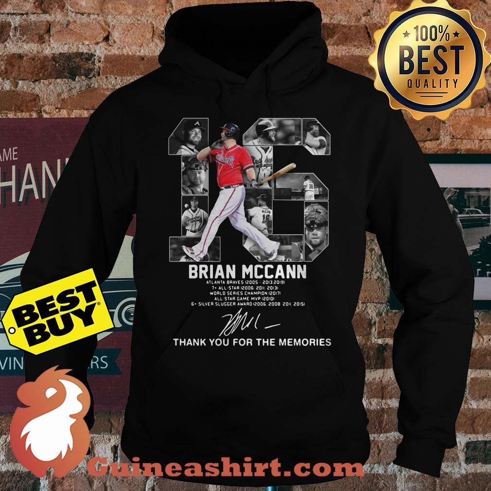 Brian Mccann signature thank you for the memories hoodie