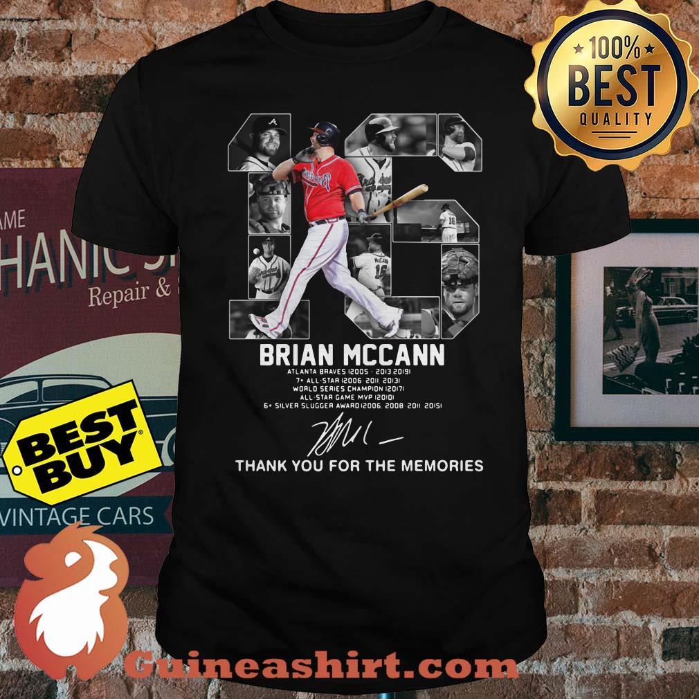 Brian Mccann signature thank you for the memories shirt