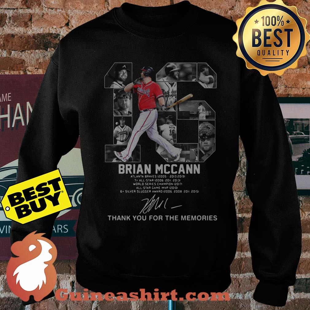 Brian Mccann signature thank you for the memories sweatshirt