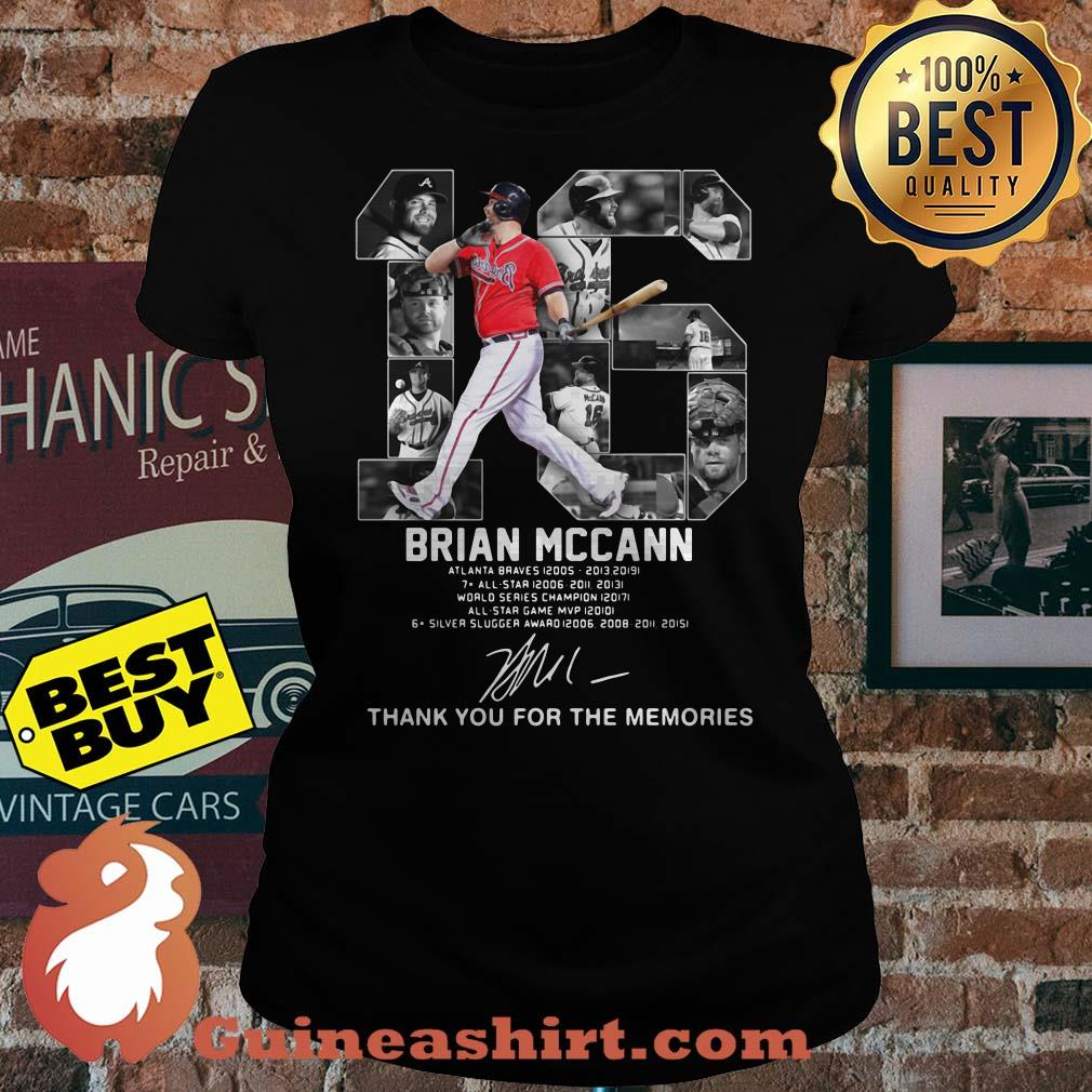 Brian Mccann signature thank you for the memories v-neck