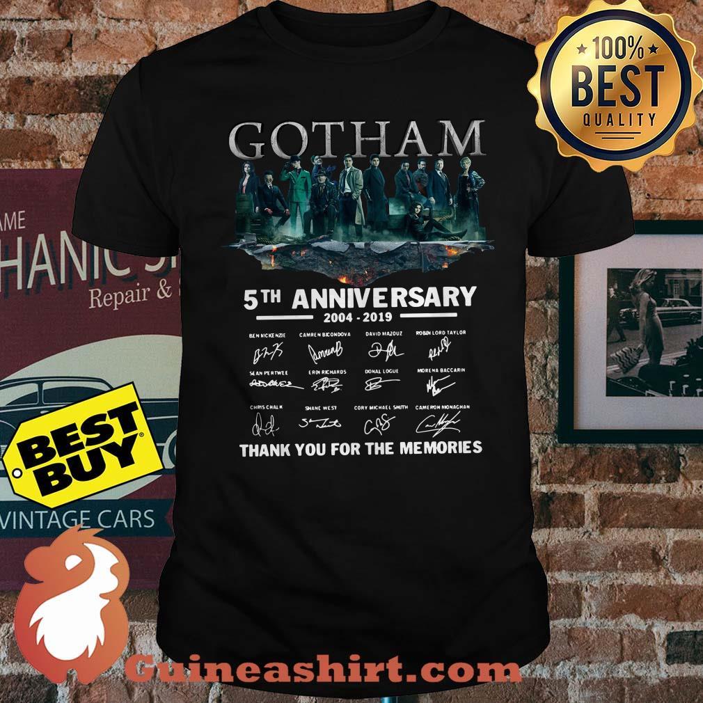 Gotham 5tm anniversary 2004-2019 signature thank you for the memories shirt