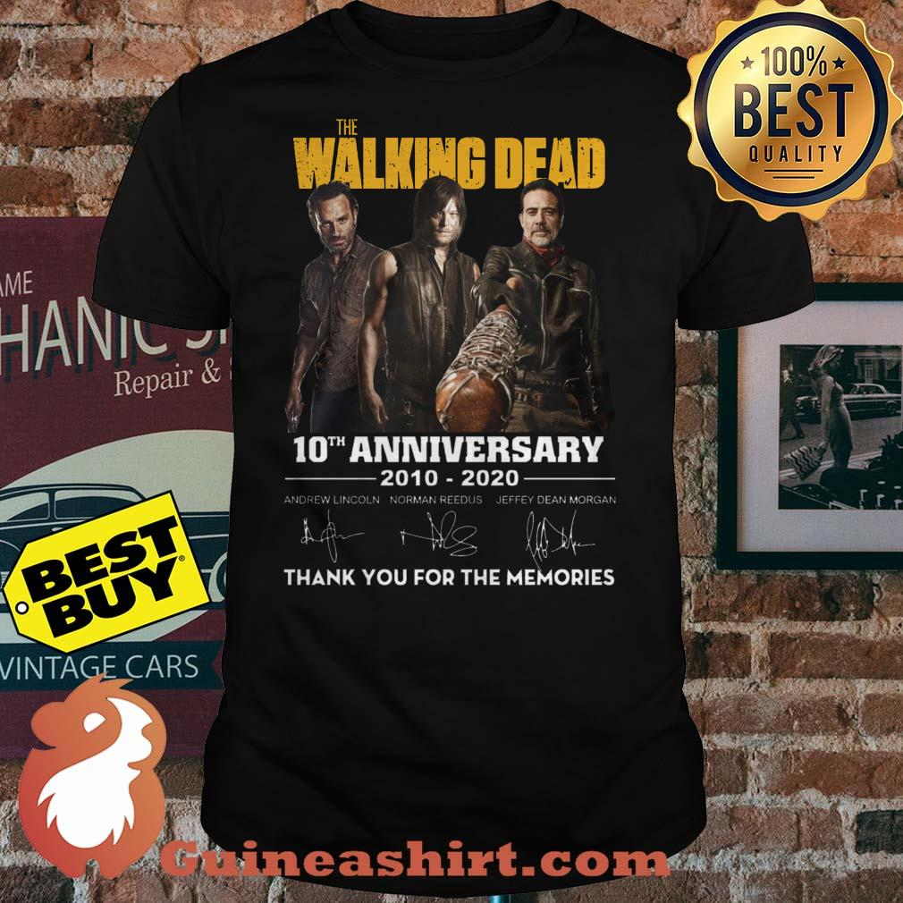 The Walking Dead 10th Anniversary 2010-2020 Signature Thank You For The Memories Shirt