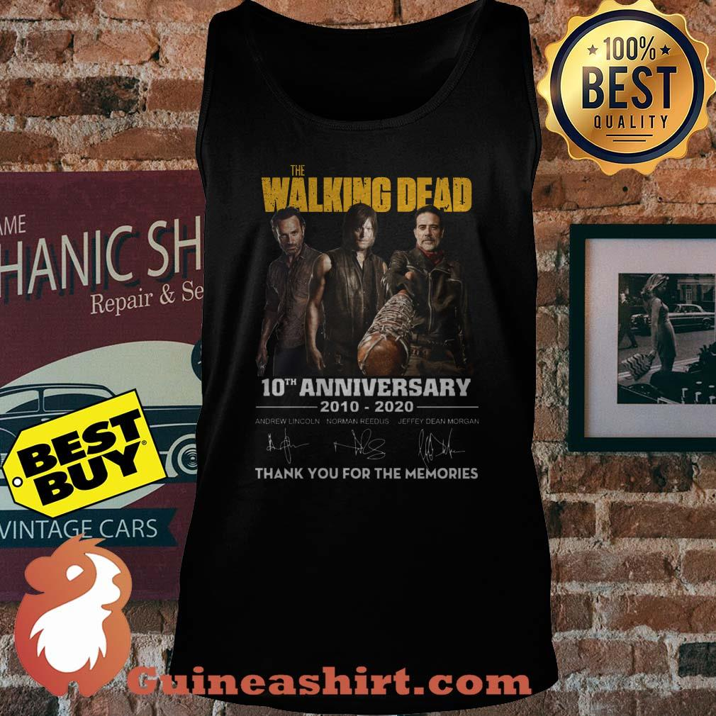 The Walking Dead 10th Anniversary 2010-2020 Signature Thank You For The Memories tank top
