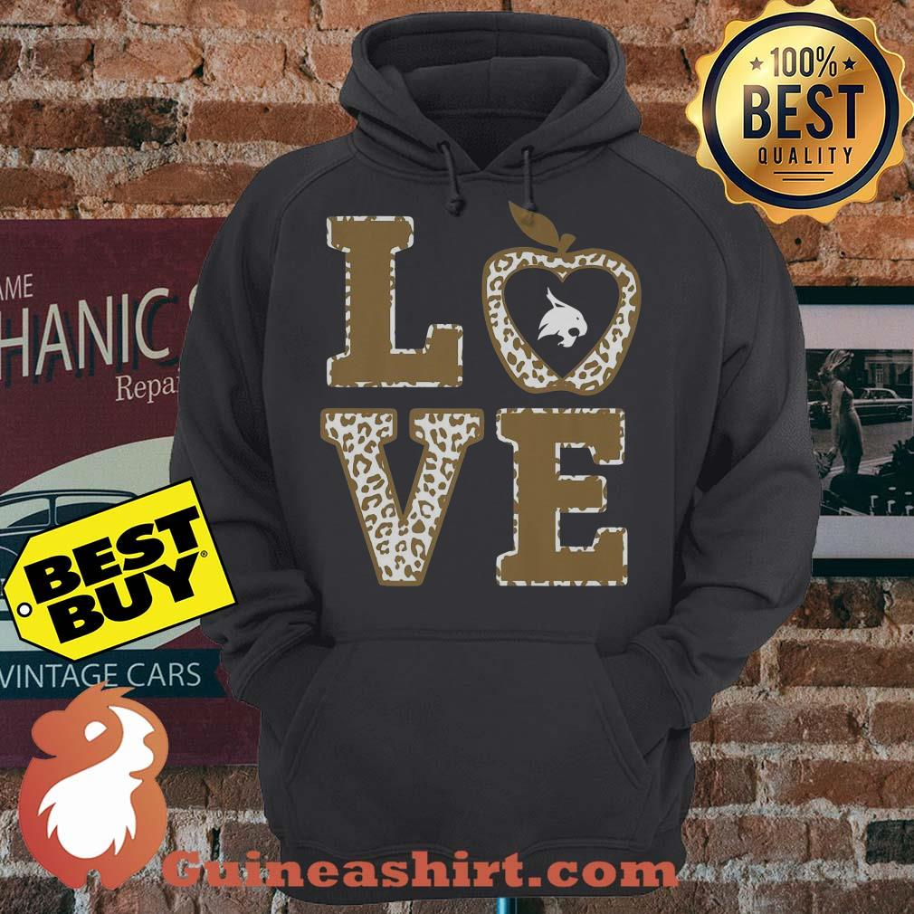 Apple Texas State Bobcats Stacked Love Officially Licensed hoodie