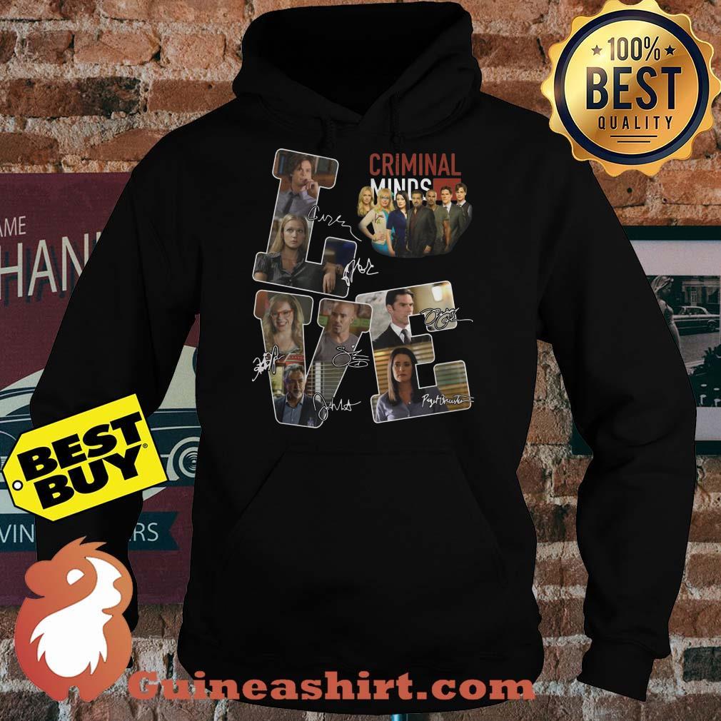 Criminal minds love character signature hoodies