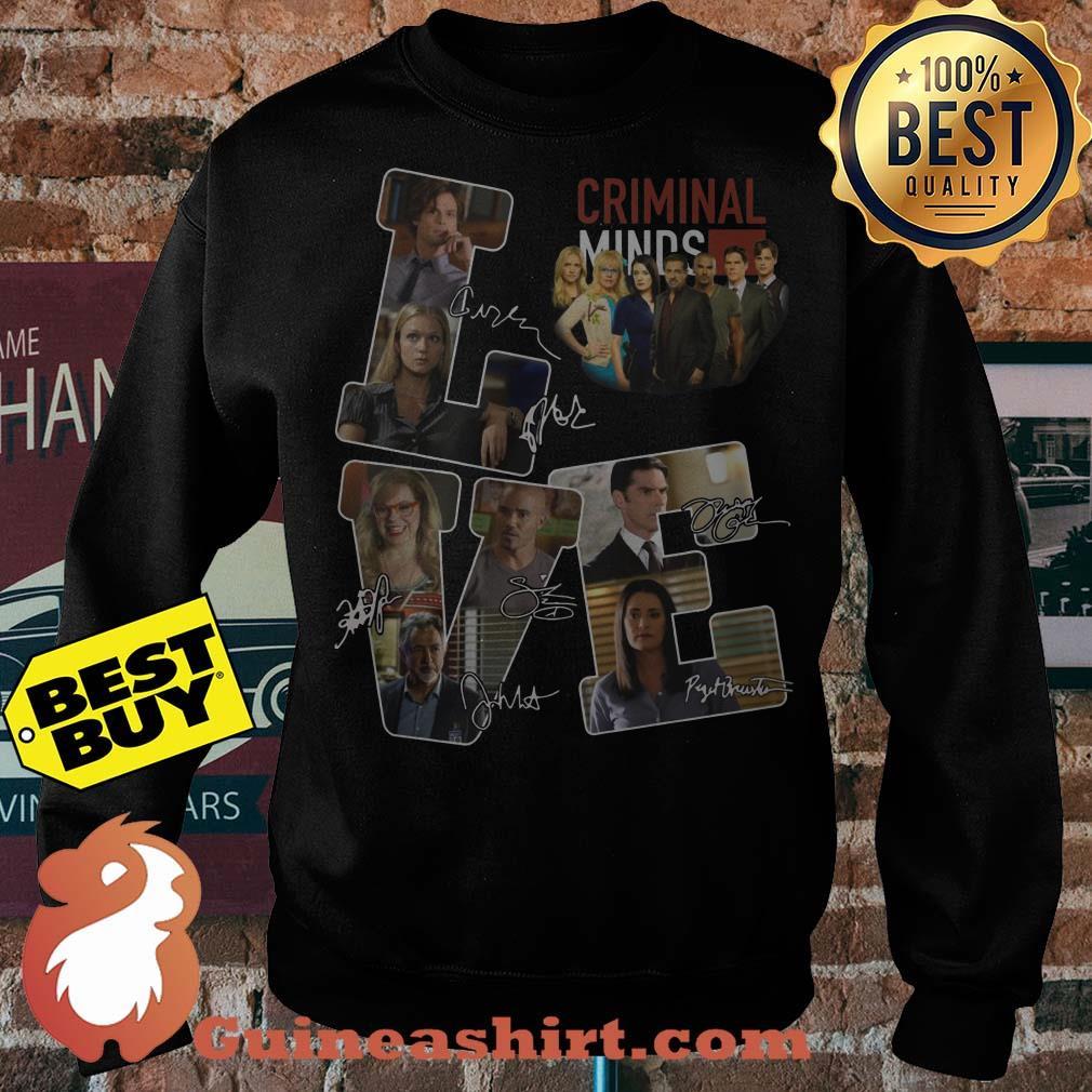 Criminal minds love character signature sweater