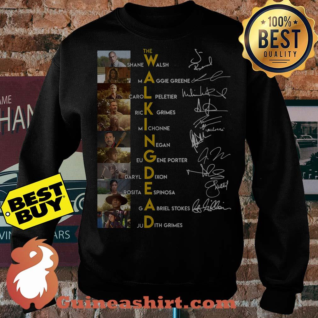 The walking dead characters signature sweater