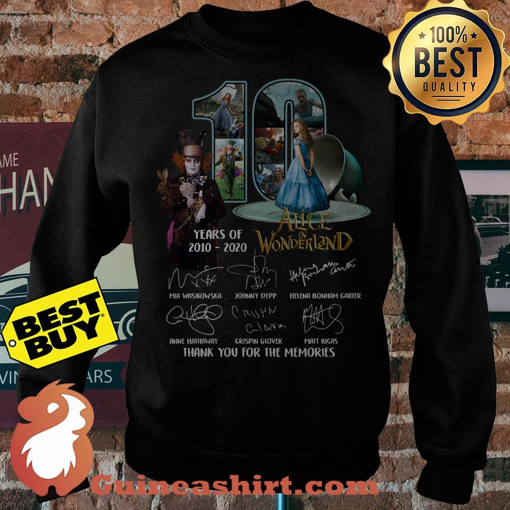 Alice In Wonderland 10 Years Of 2010 - 2020 Signature Thank You For The Memories Sweater