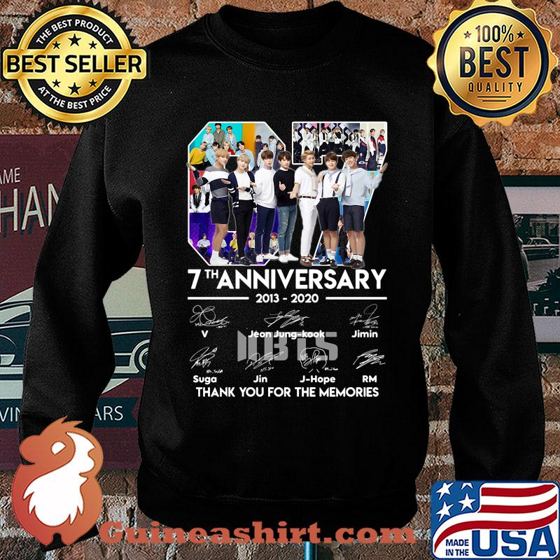 07 7th anniversary 2013-2020 BTS signatures thank you for the memories s Sweater