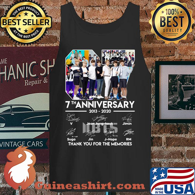 07 7th anniversary 2013-2020 BTS signatures thank you for the memories s Tank top