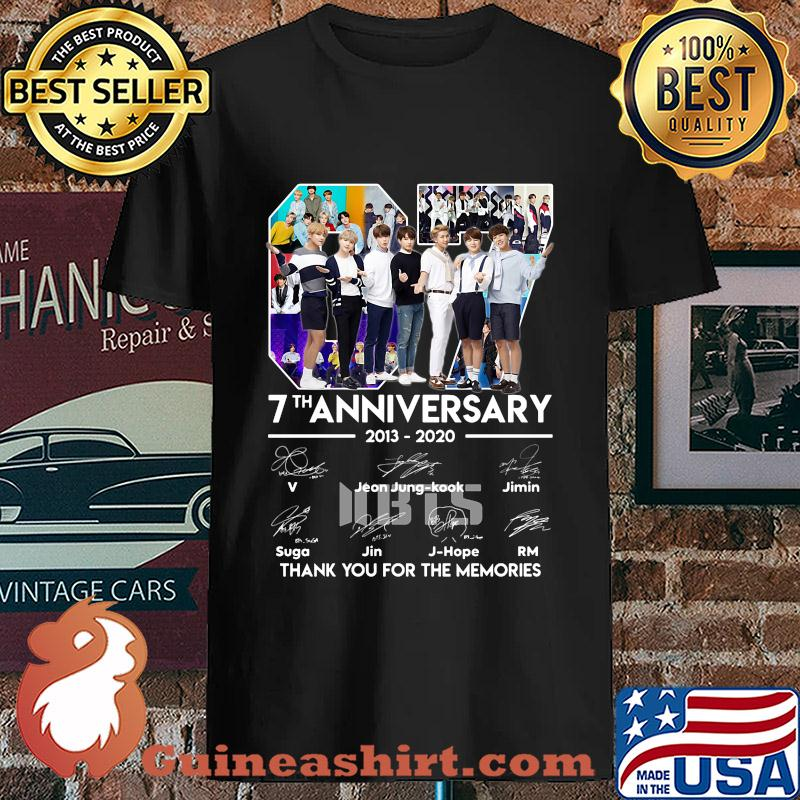 07 7th anniversary 2013-2020 BTS signatures thank you for the memories s Unisex