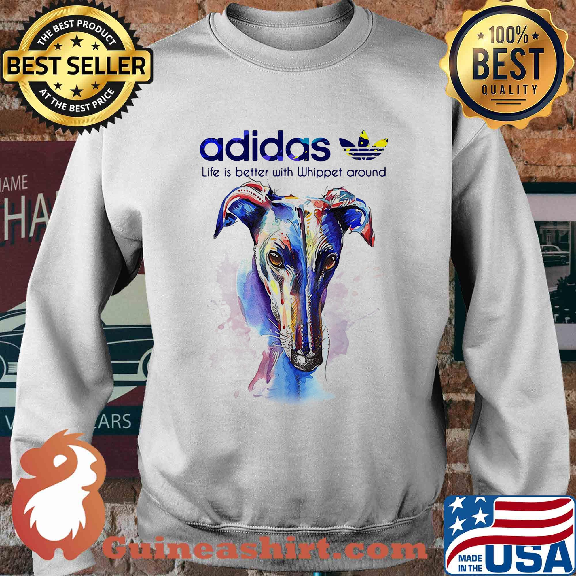 Adidas all day I dream about Whippet around Coloful s Sweater
