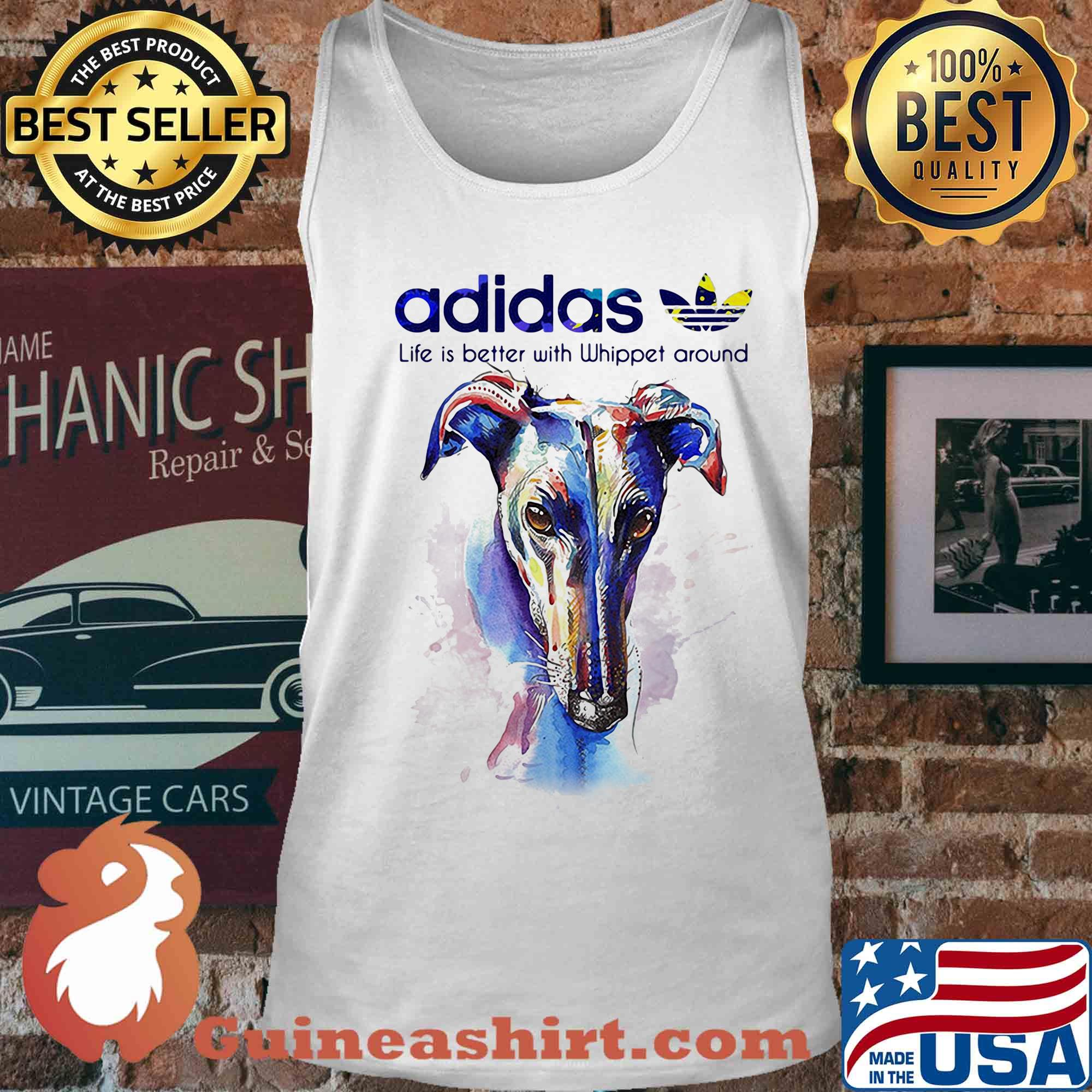 Adidas all day I dream about Whippet around Coloful s Tank top