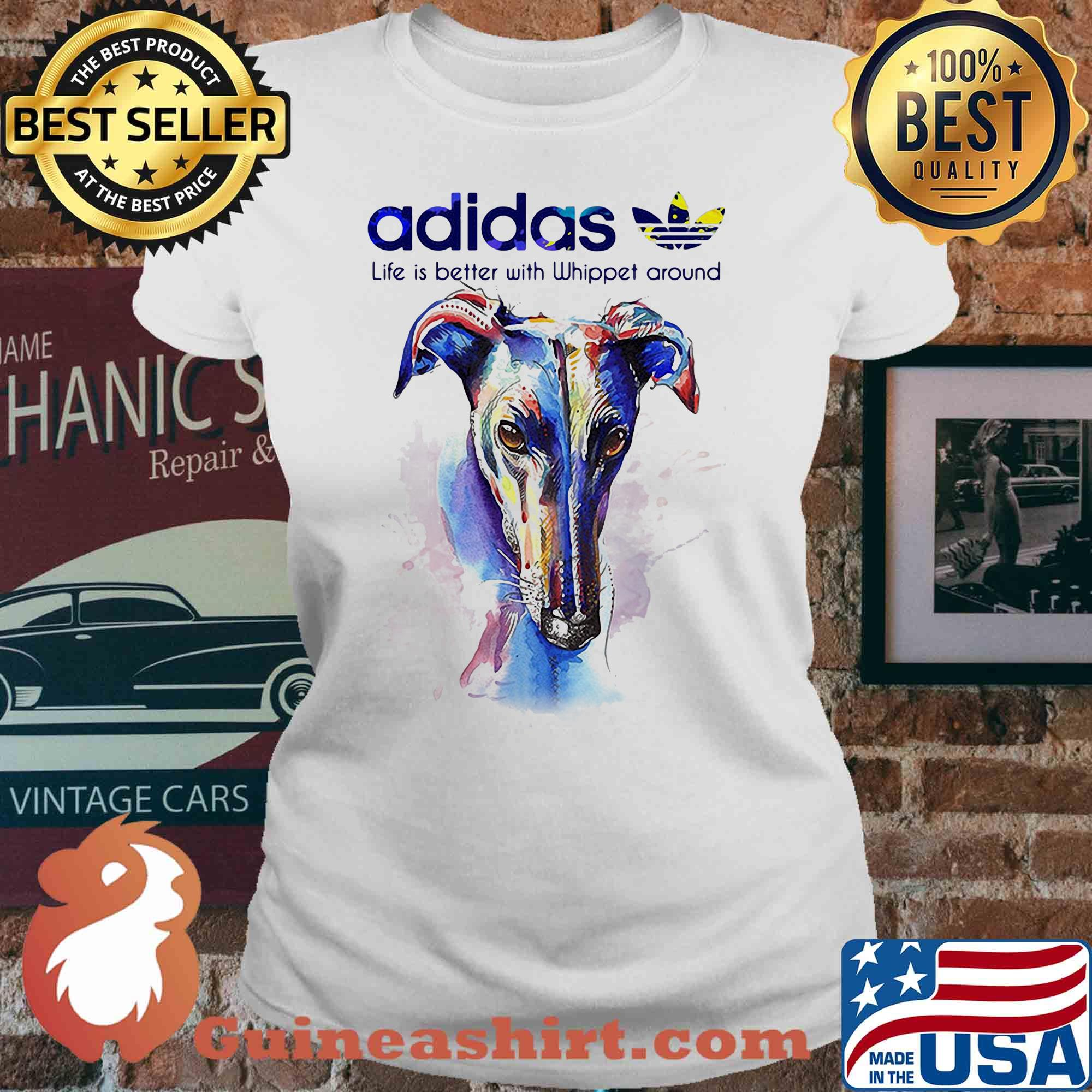 Adidas all day I dream about Whippet around Coloful s V-neck