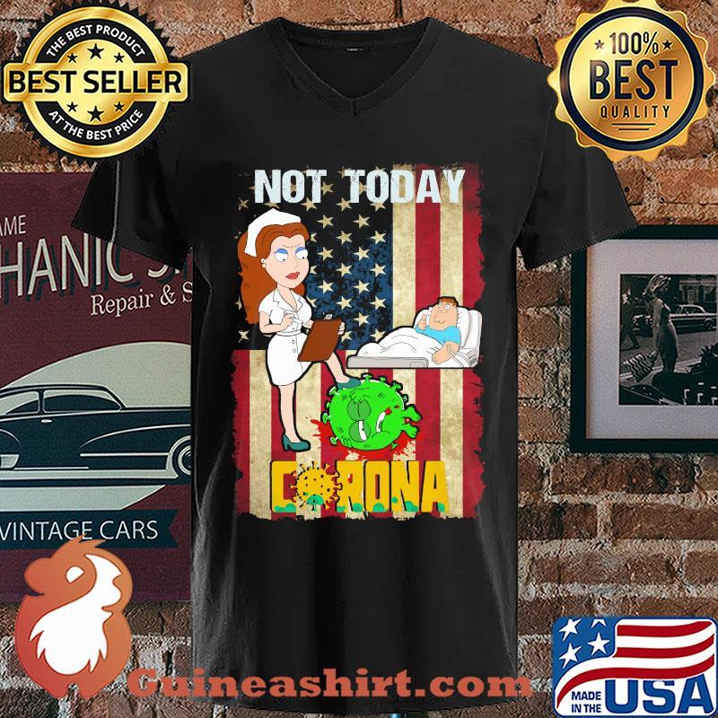 American nurse not today go away corona shirt