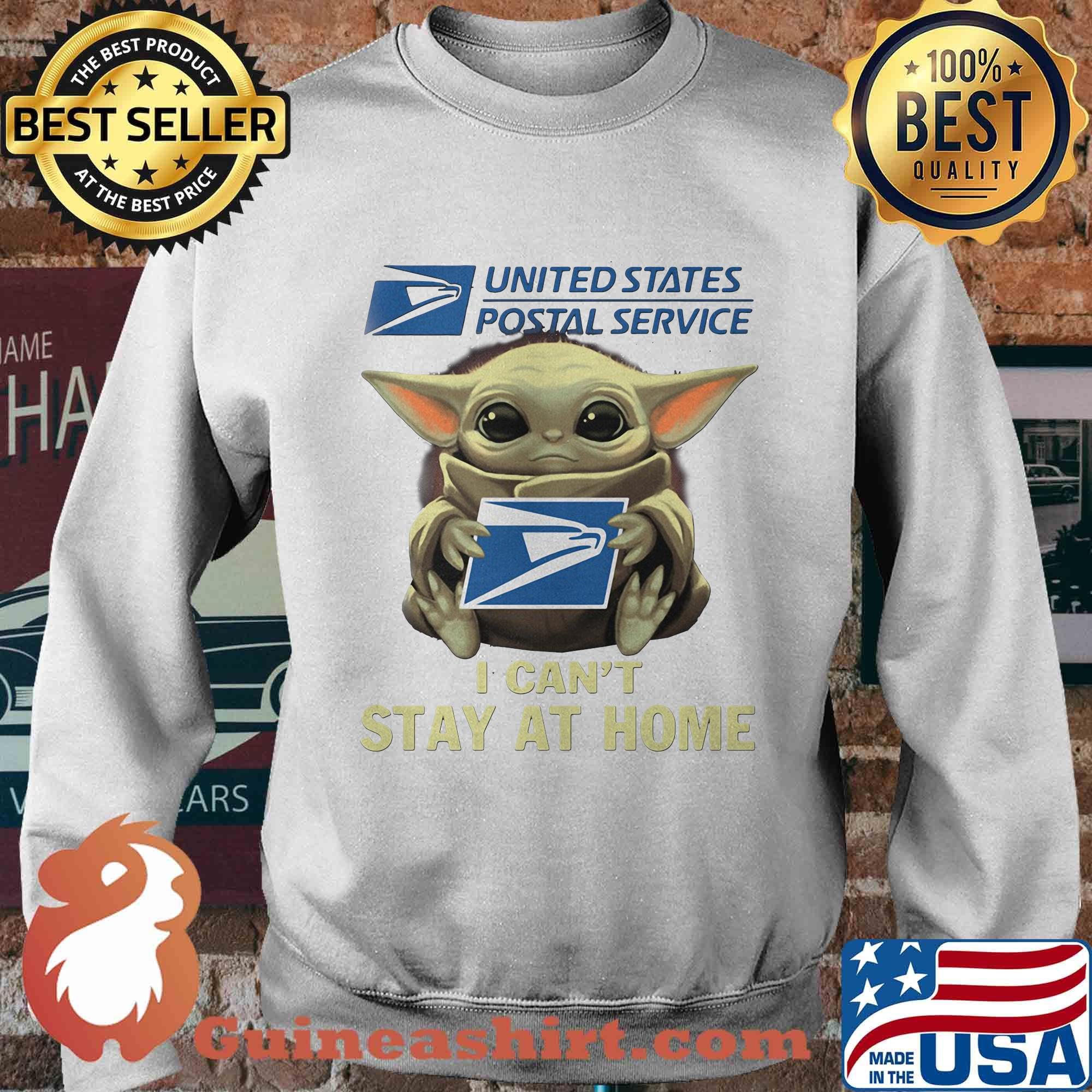 Baby yoda hug united state postal service I can't stay at home s Sweater