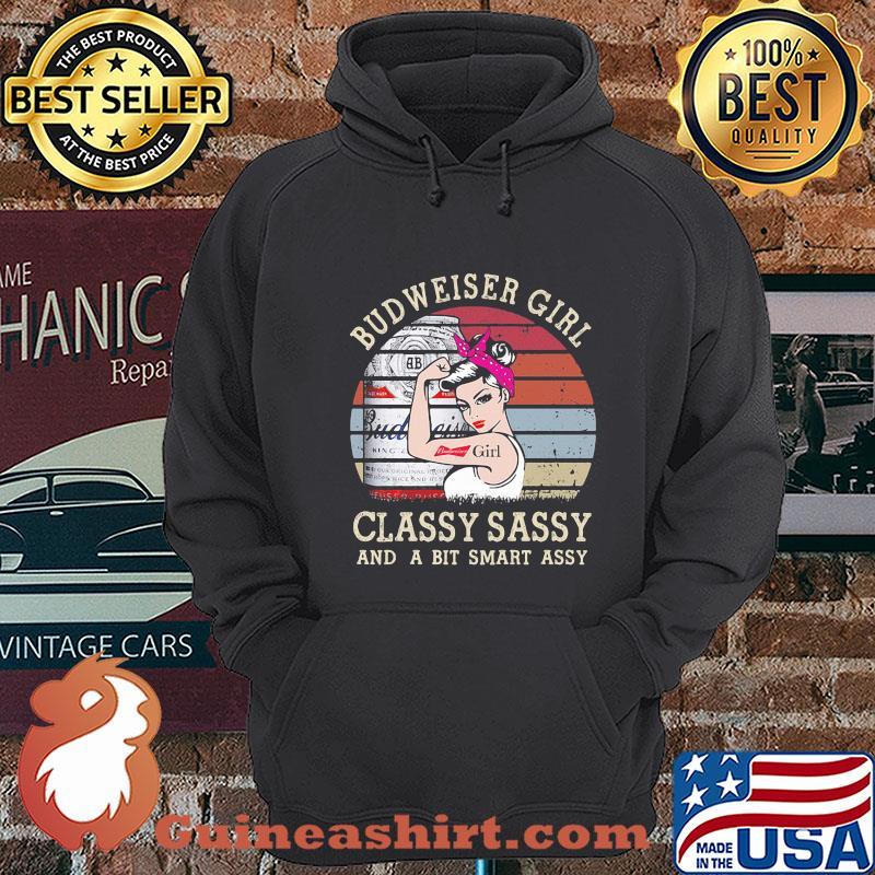 Budweiser Girl Classy Sassy And A Bit Smart Assy Vintage shirt