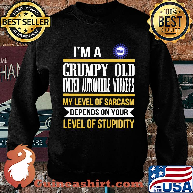 I'm A Grumpy Old International Brotherhood Of Teamsters My Level Of Sarcasm Depends On Your Level Of Stupidity s Sweater