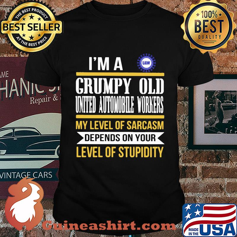 I'm A Grumpy Old International Brotherhood Of Teamsters My Level Of Sarcasm Depends On Your Level Of Stupidity shirt