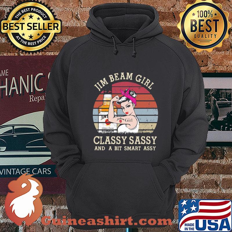 Jim Beam Girl Classy Sassy And A Bit Smart Assy Vintage shirt