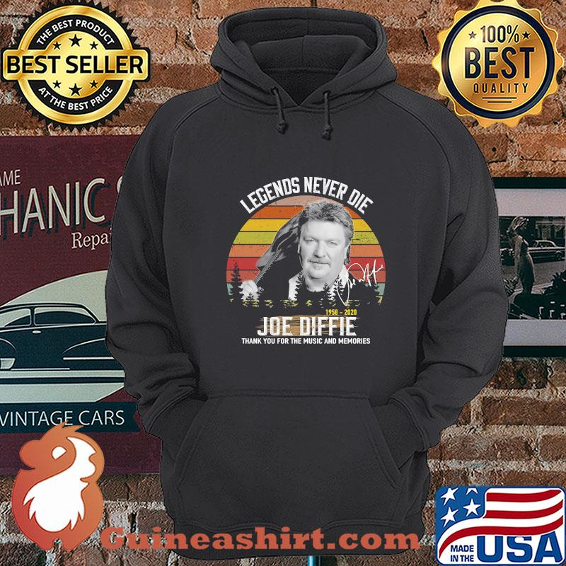 Legends Never Die 1958 2020 Joe Diffie Thank You For The Music And Memories Vintage Signature shirt