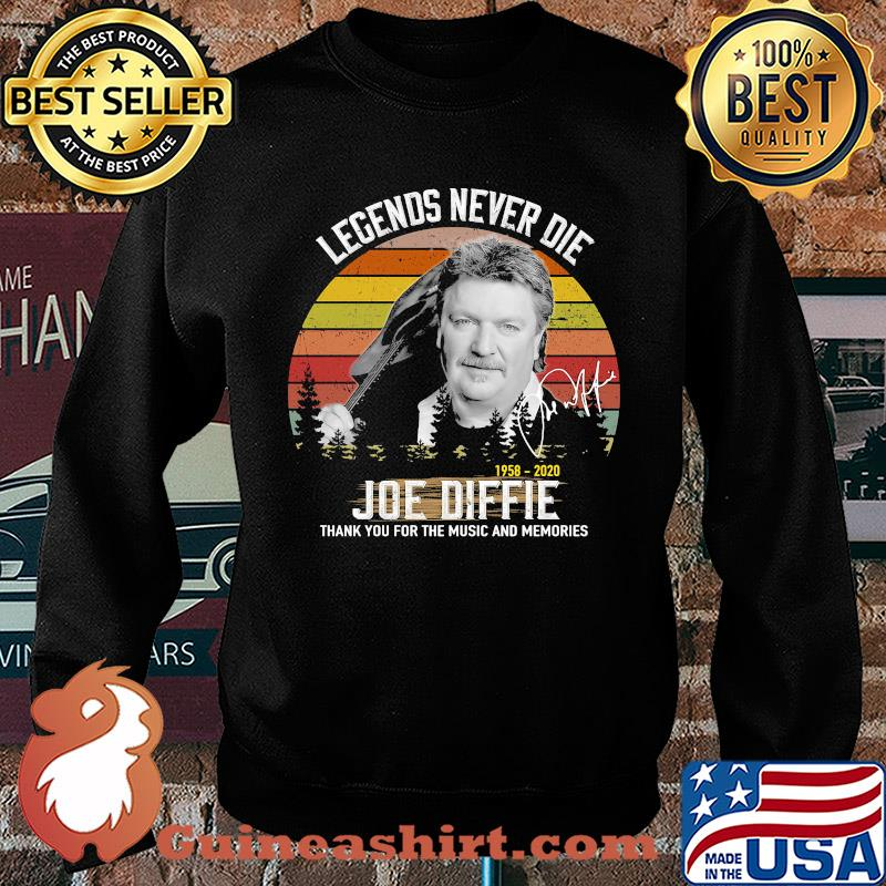 Legends Never Die 1958 2020 Joe Diffie Thank You For The Music And Memories Vintage Signature s Sweater