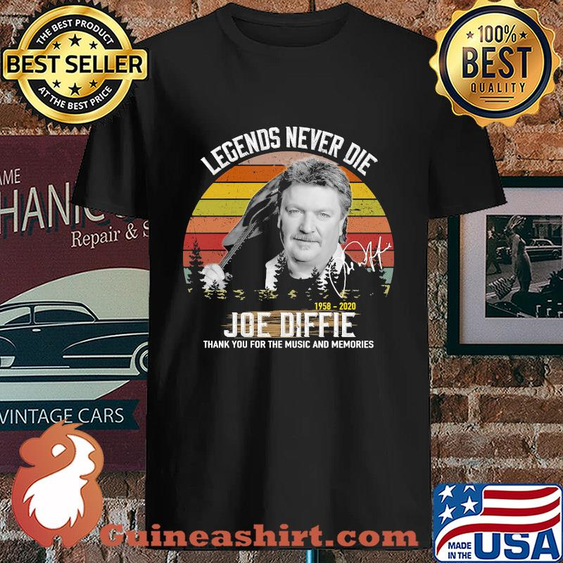 Legends Never Die 1958 2020 Joe Diffie Thank You For The Music And Memories Vintage Signature s Unisex