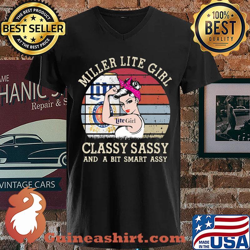 Miller Lite Girl Classy Sassy And A Bit Smart Assy Vintage 2020 s V-neck
