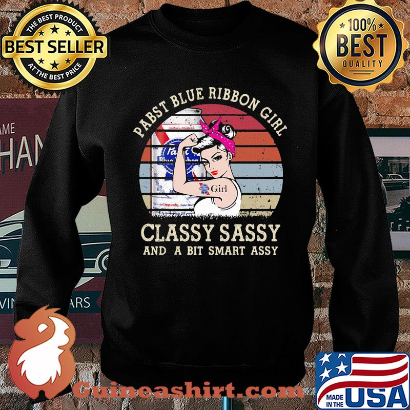 Pabst Blue Girl Classy Sassy And A Bit Smart Assy Vintage s Sweater