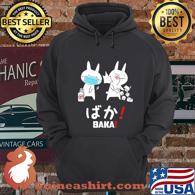 Slap Rabbit Mask Baka Japanese Coronavirus Shirt Hoodie