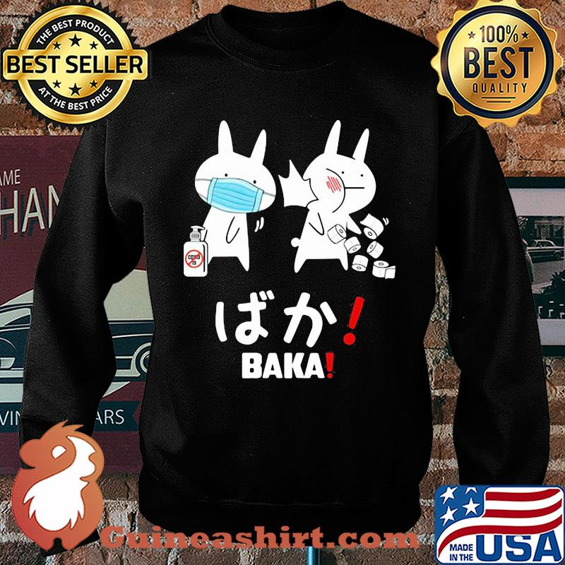 Slap Rabbit Mask Baka Japanese Coronavirus Shirt Sweater
