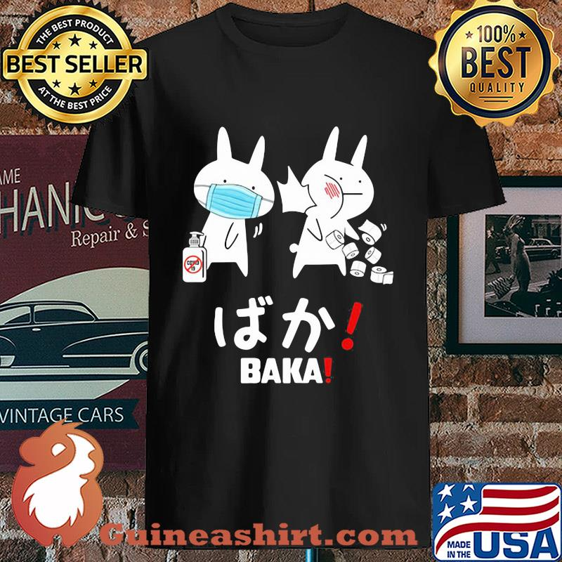 Slap Rabbit Mask Baka Japanese Coronavirus Shirt Unisex