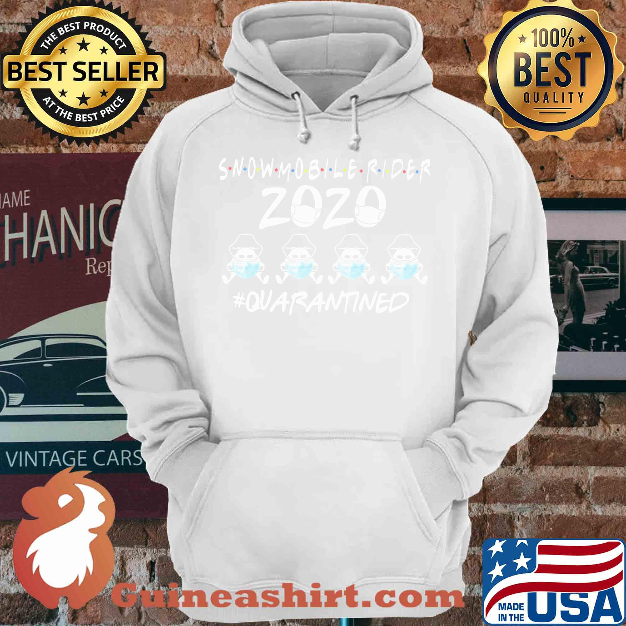 Snowmobile rider 2020 mask quarantined shirt