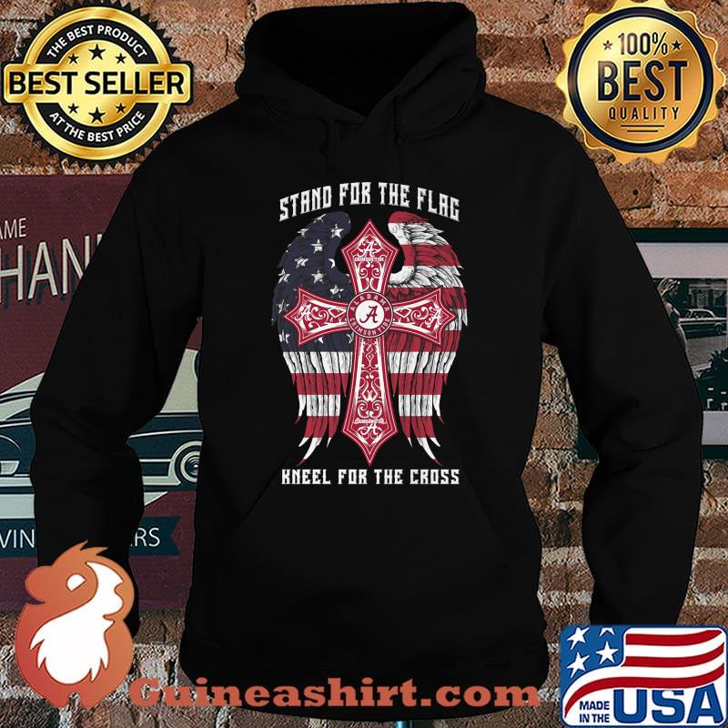 Alabama crimson tide stand for the flag kneel for the cross american flag independence day s Hoodie