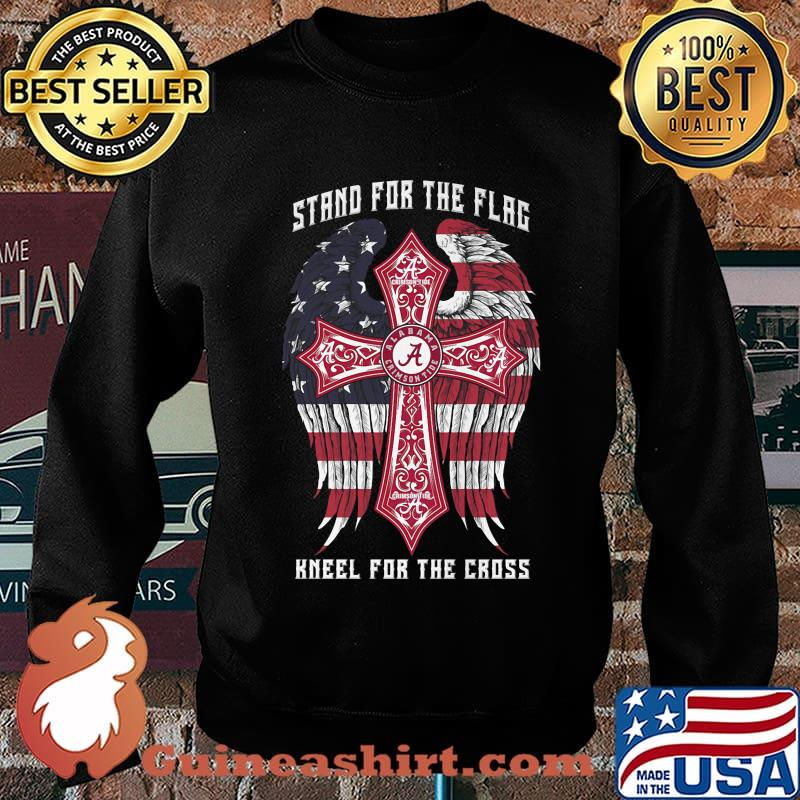 Alabama crimson tide stand for the flag kneel for the cross american flag independence day s Sweater