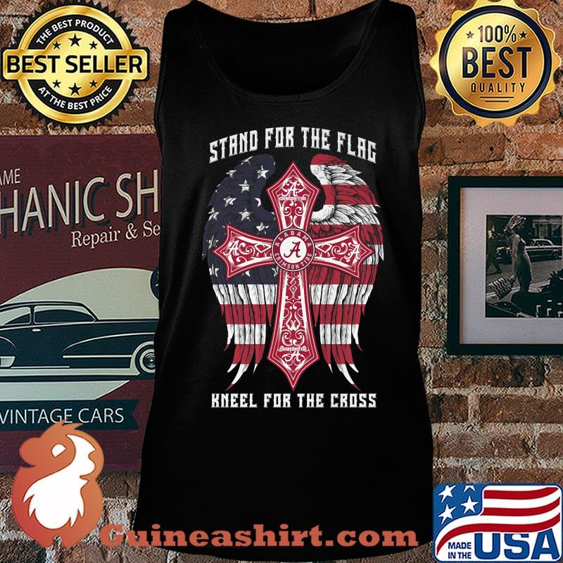 Alabama crimson tide stand for the flag kneel for the cross american flag independence day s Tank top