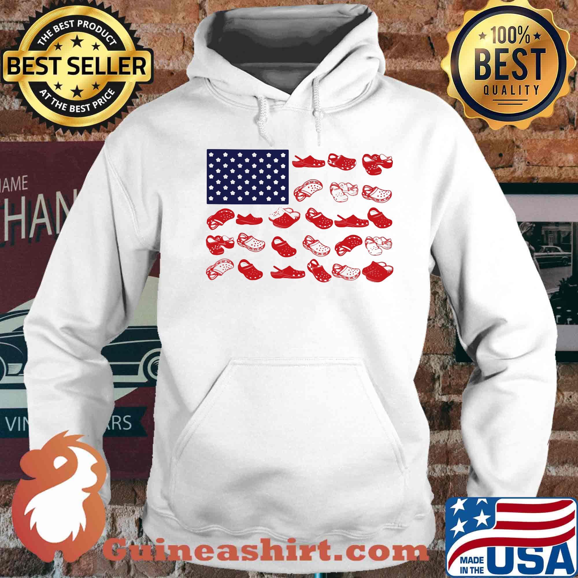Crocs american flag independence day s Hoodie
